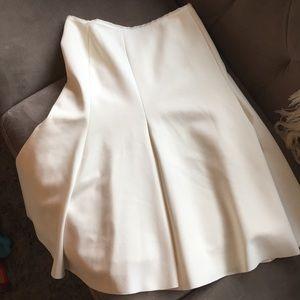 Zara high waisted white skirt